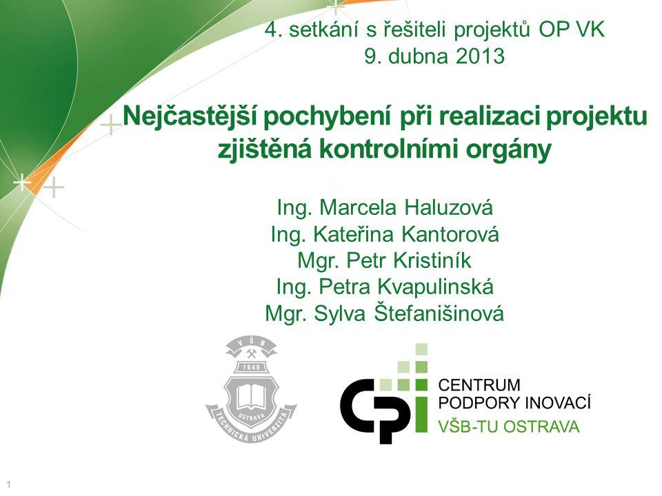 4. setkání s řešiteli projektů OP VK