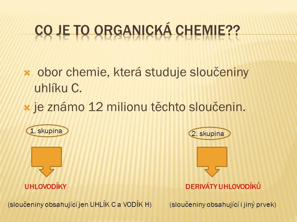 Co je to organická chemie
