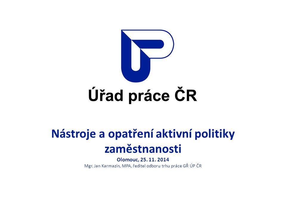 Nástroje a opatření aktivní politiky zaměstnanosti Olomouc, 25. 11