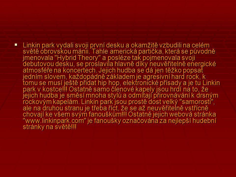 Linkin park vydali svoji první desku a okamžitě vzbudili na celém světě obrovskou mánii.