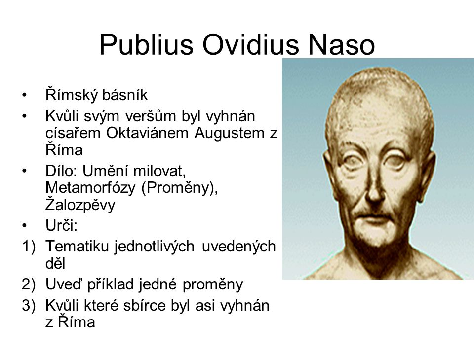 Publius Ovidius Naso Římský básník