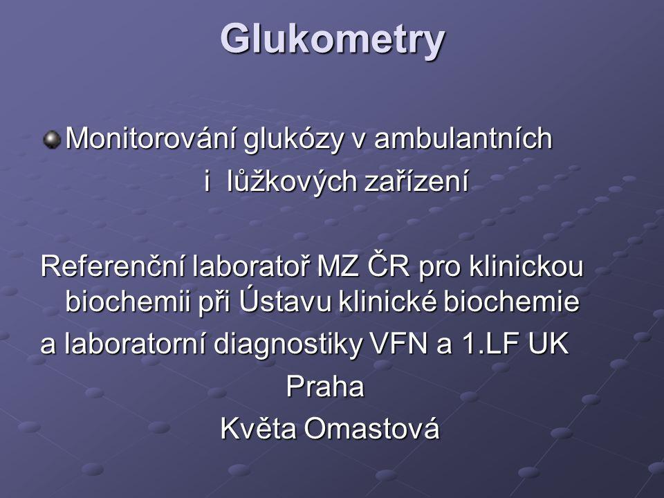 Glukometry Monitorování glukózy v ambulantních i lůžkových zařízení