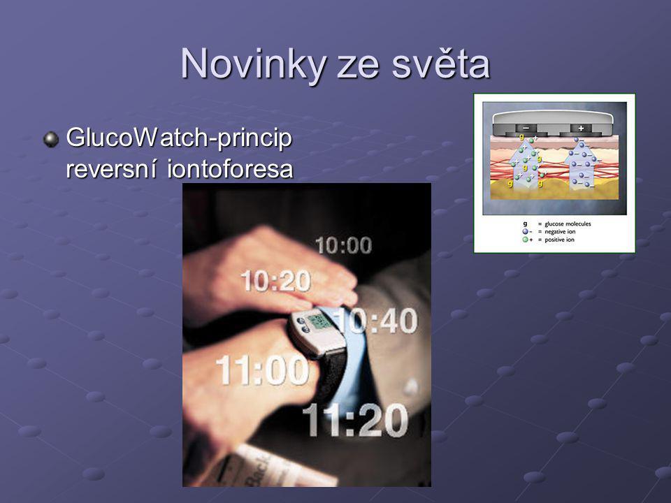 Novinky ze světa GlucoWatch-princip reversní iontoforesa