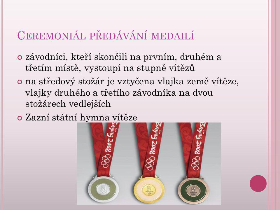 Ceremoniál předávání medailí