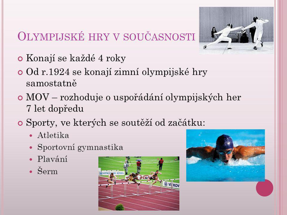 Olympijské hry v současnosti