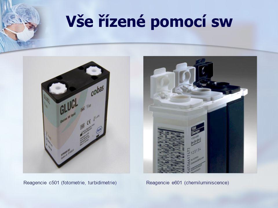 Vše řízené pomocí sw Reagencie c501 (fotometrie, turbidimetrie)