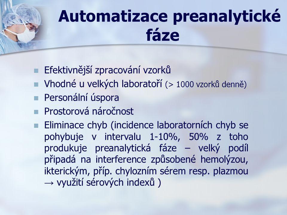 Automatizace preanalytické fáze