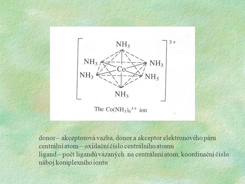 donor – akceptorová vazba, donor a akceptor elektronového páru