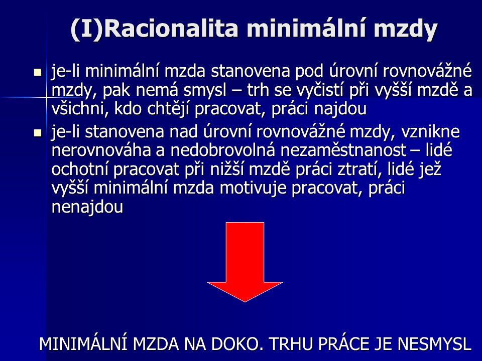 (I)Racionalita minimální mzdy