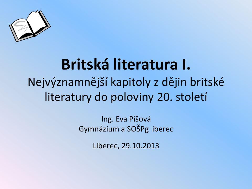 Ing. Eva Píšová Gymnázium a SOŠPg iberec Liberec, 29.10.2013