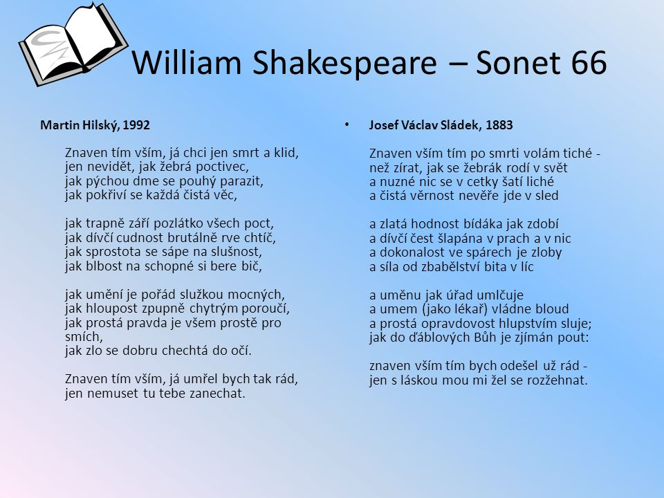 William Shakespeare – Sonet 66