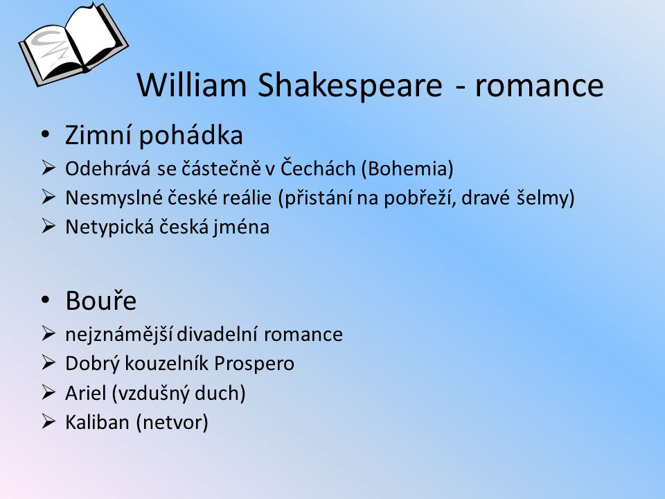 William Shakespeare - romance