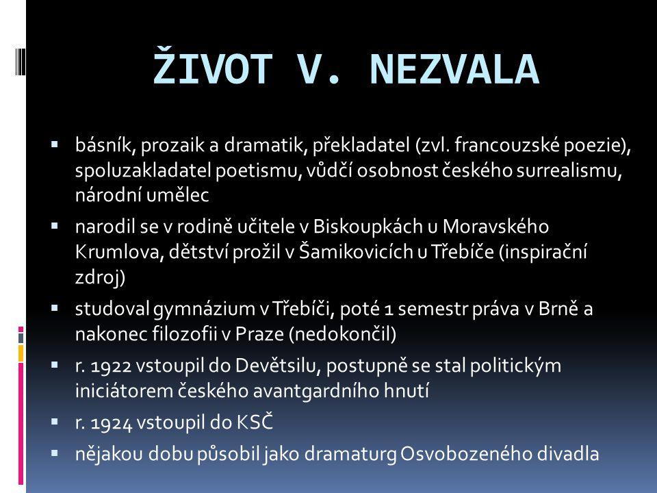 ŽIVOT V. NEZVALA