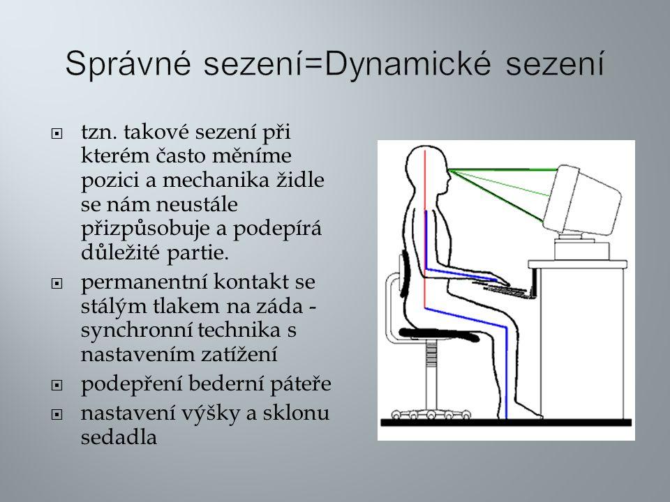 Správné sezení=Dynamické sezení