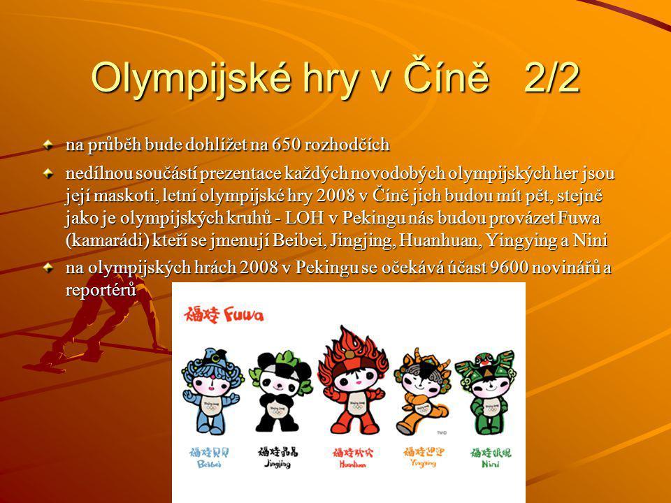 Olympijské hry v Číně 2/2 na průběh bude dohlížet na 650 rozhodčích
