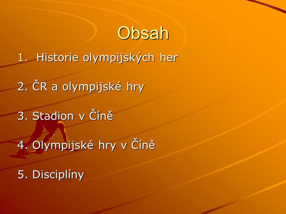 Obsah Historie olympijských her 2. ČR a olympijské hry
