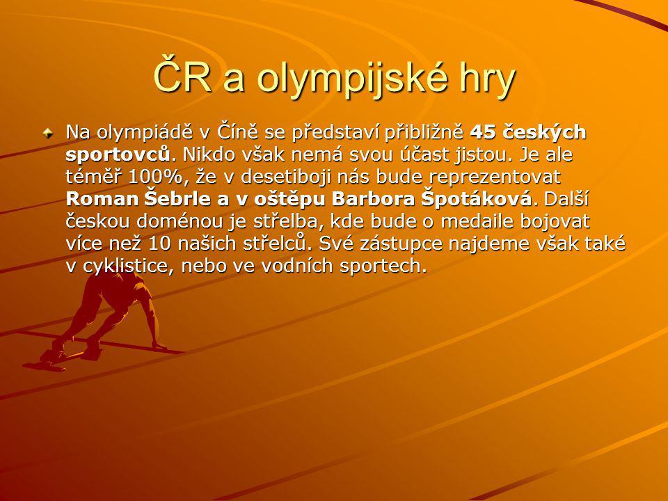 ČR a olympijské hry