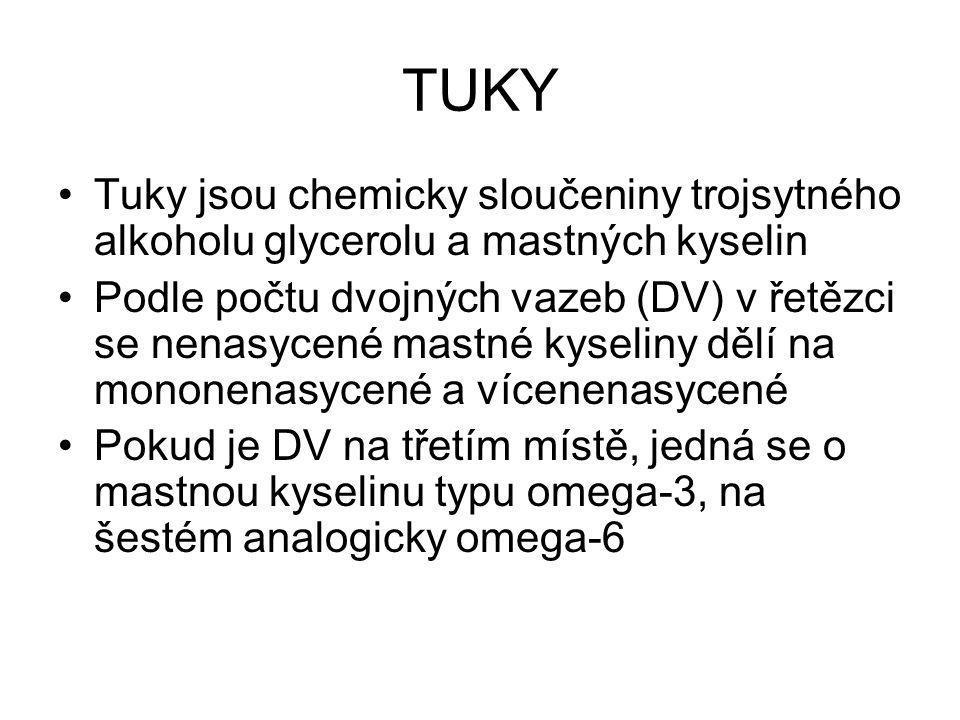 TUKY Tuky jsou chemicky sloučeniny trojsytného alkoholu glycerolu a mastných kyselin.
