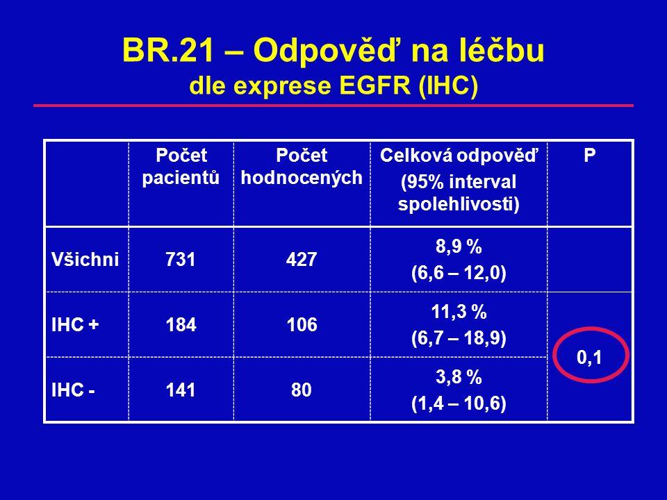 BR.21 – Odpověď na léčbu dle exprese EGFR (IHC)