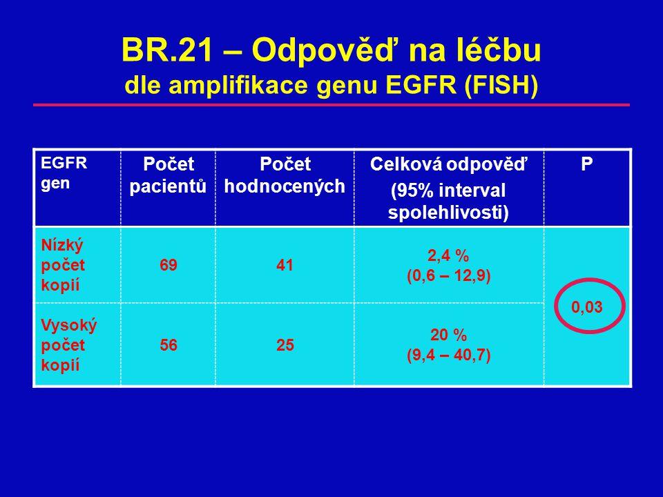 BR.21 – Odpověď na léčbu dle amplifikace genu EGFR (FISH)