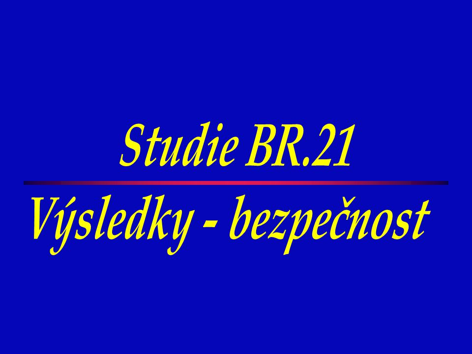 Studie BR.21 Výsledky - bezpečnost