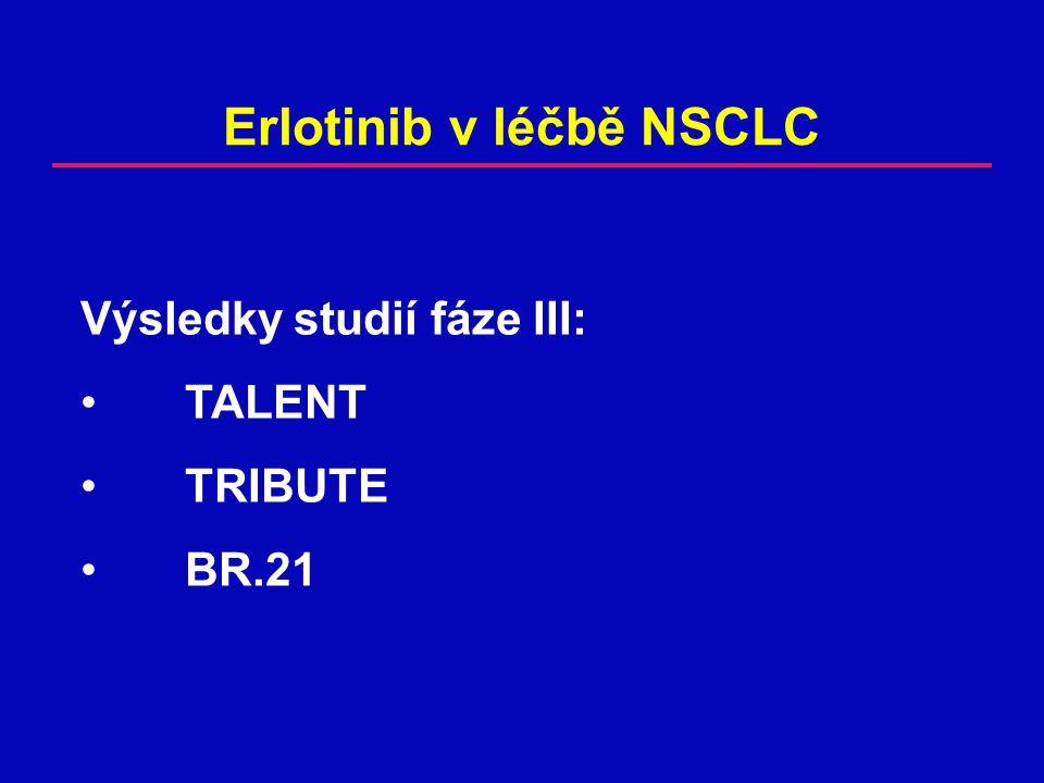 Erlotinib v léčbě NSCLC