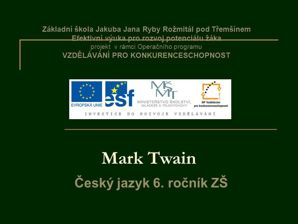 Mark Twain Český jazyk 6. ročník ZŠ