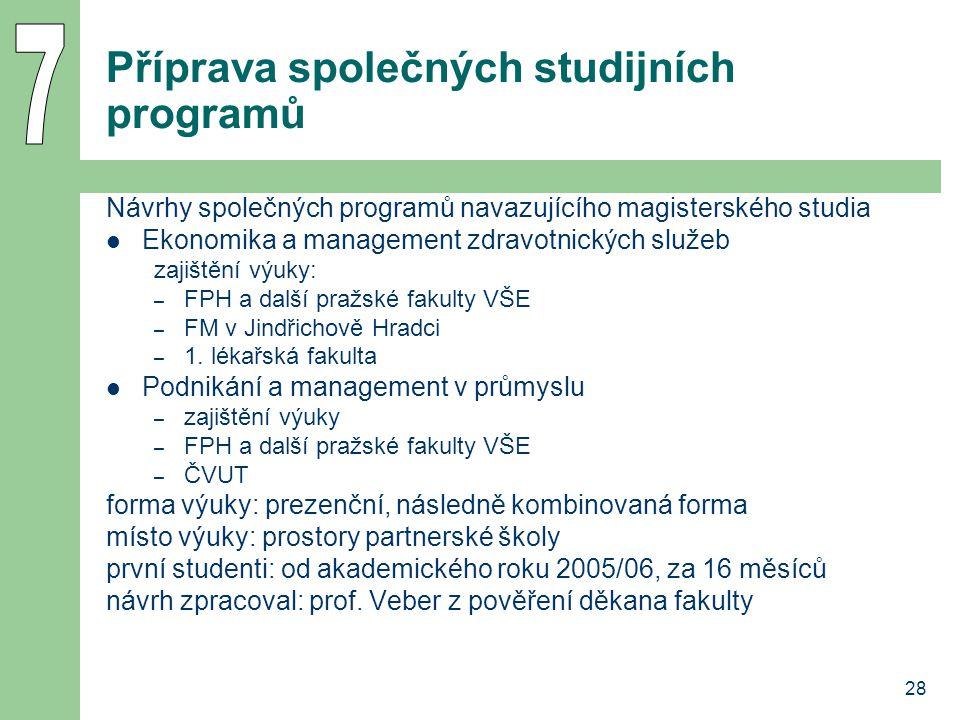 Příprava společných studijních programů