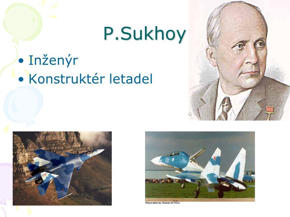 P.Sukhoy Inženýr Konstruktér letadel