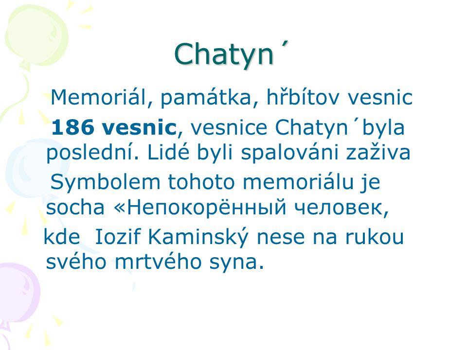 Chatyn´ Memoriál, památka, hřbítov vesnic