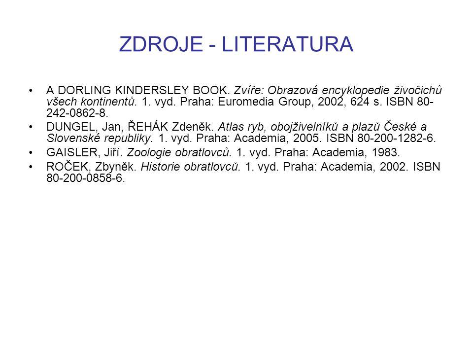 ZDROJE - LITERATURA