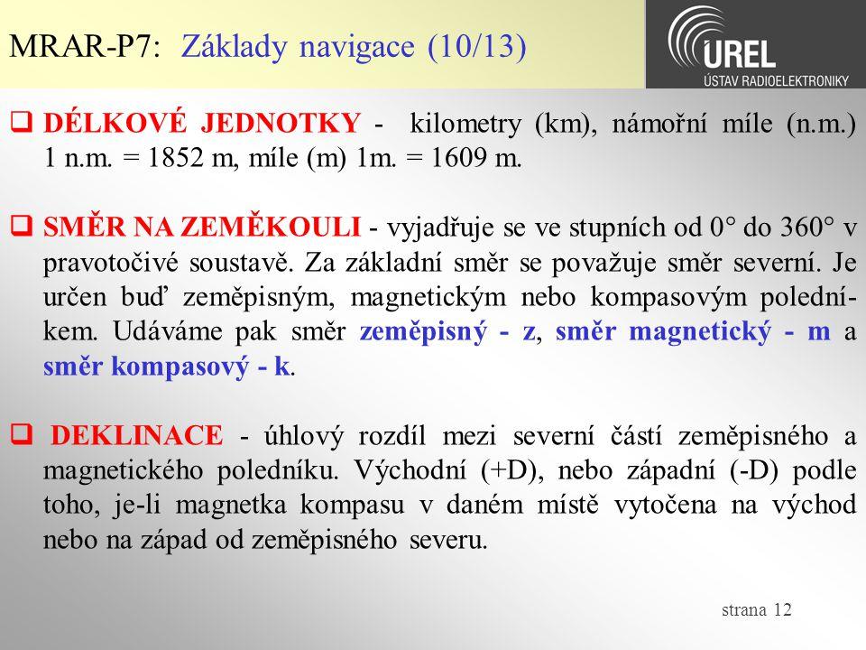 MRAR-P7: Základy navigace (10/13)