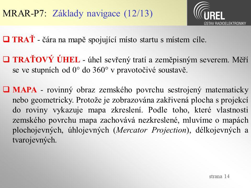 MRAR-P7: Základy navigace (12/13)