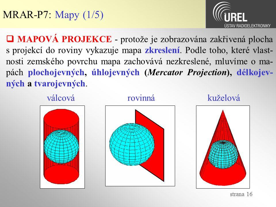 MRAR-P7: Mapy (1/5)