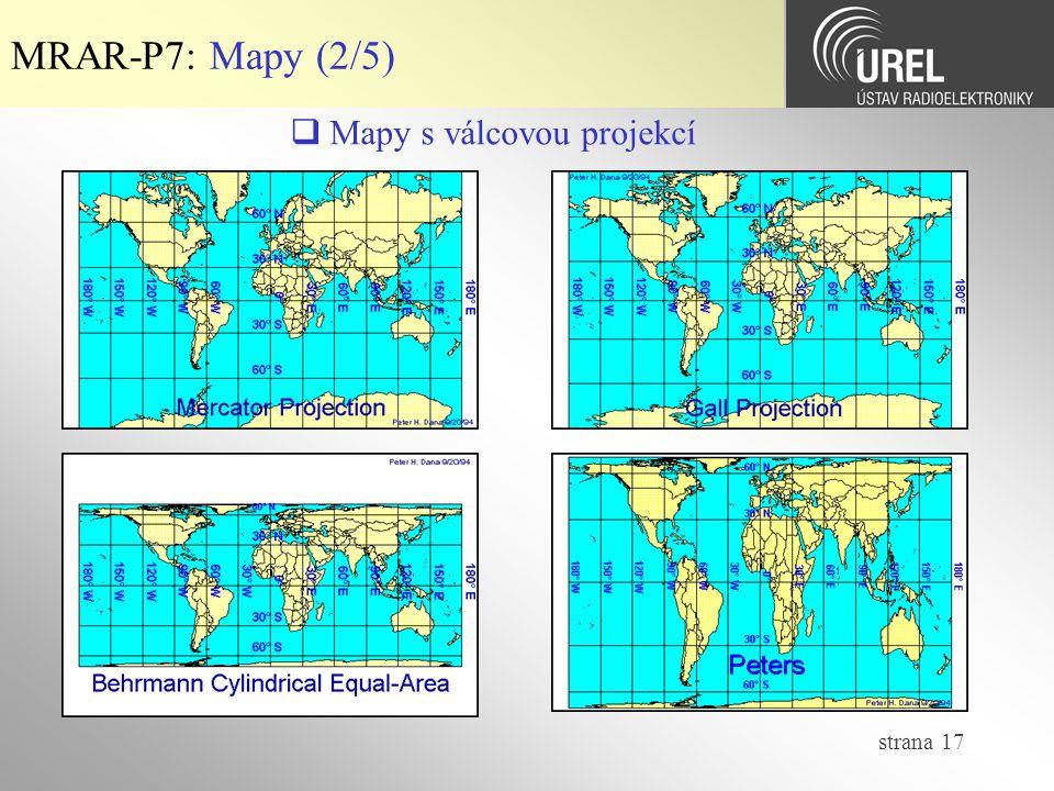  Mapy s válcovou projekcí
