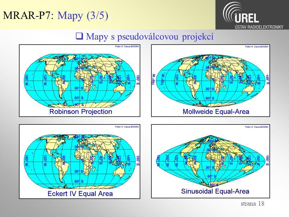  Mapy s pseudoválcovou projekcí