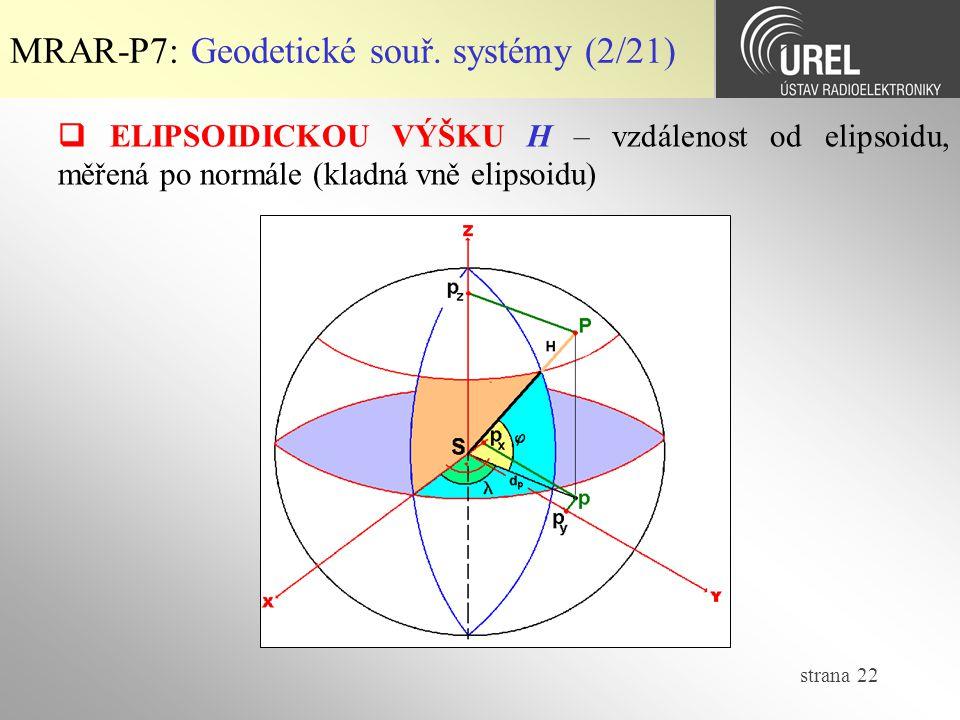 MRAR-P7: Geodetické souř. systémy (2/21)