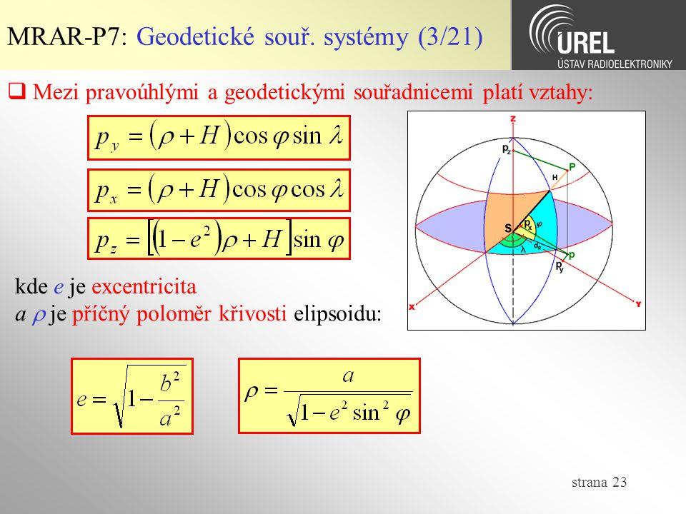 MRAR-P7: Geodetické souř. systémy (3/21)