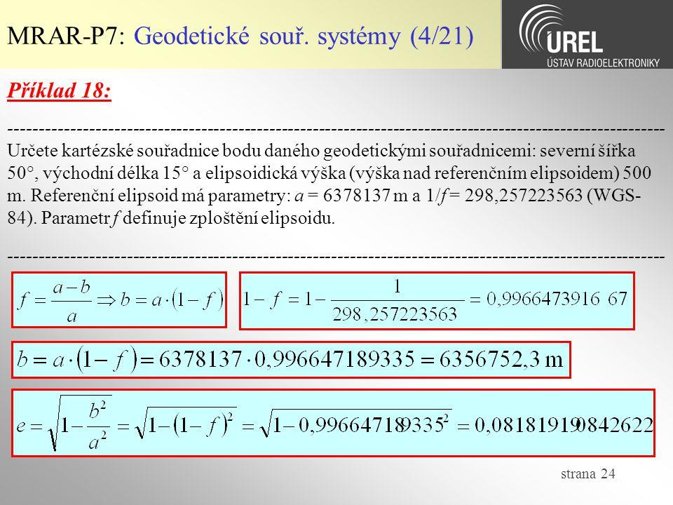 MRAR-P7: Geodetické souř. systémy (4/21)