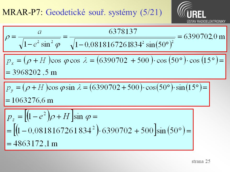MRAR-P7: Geodetické souř. systémy (5/21)