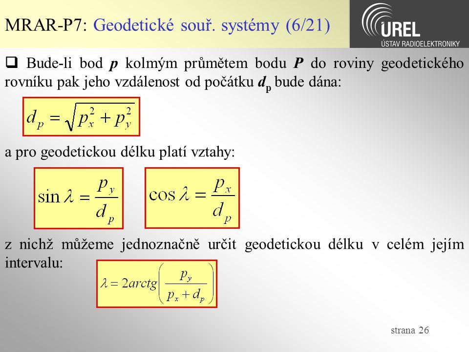MRAR-P7: Geodetické souř. systémy (6/21)