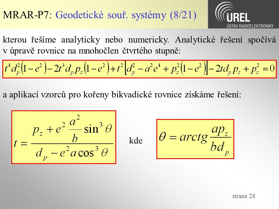 MRAR-P7: Geodetické souř. systémy (8/21)