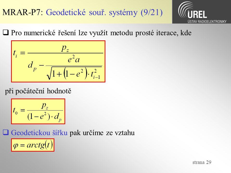 MRAR-P7: Geodetické souř. systémy (9/21)
