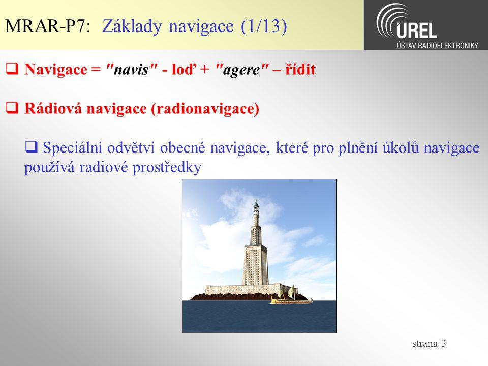 MRAR-P7: Základy navigace (1/13)