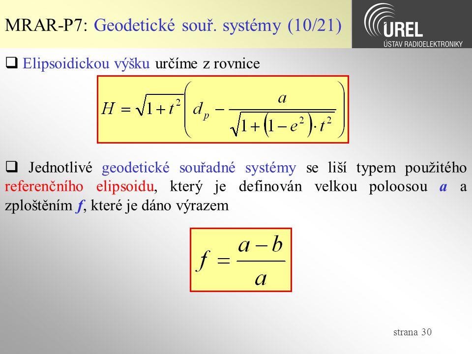 MRAR-P7: Geodetické souř. systémy (10/21)