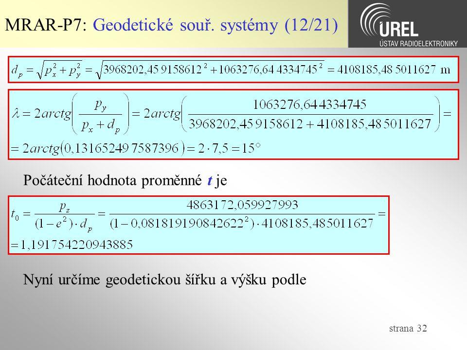 MRAR-P7: Geodetické souř. systémy (12/21)