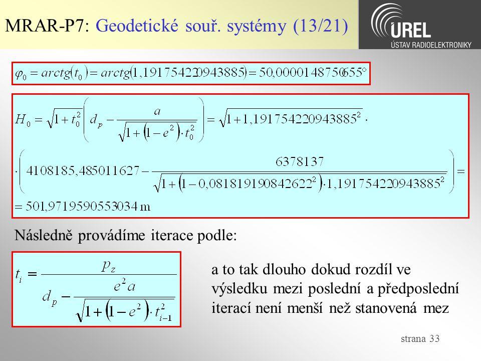 MRAR-P7: Geodetické souř. systémy (13/21)