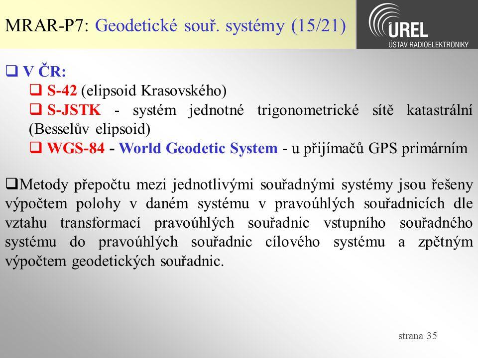 MRAR-P7: Geodetické souř. systémy (15/21)