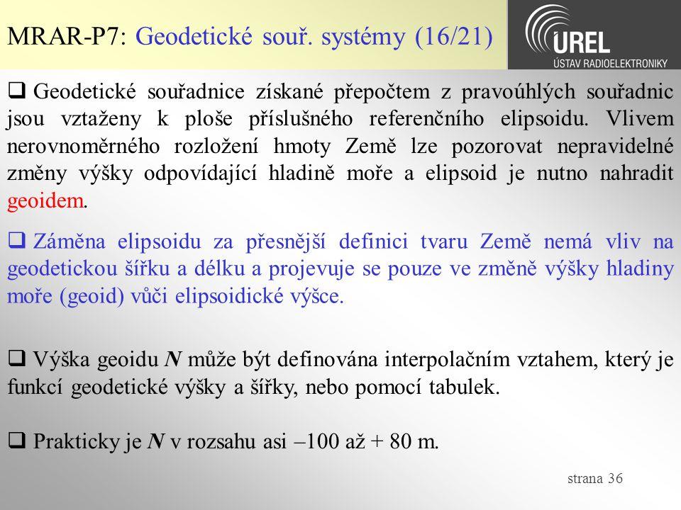 MRAR-P7: Geodetické souř. systémy (16/21)