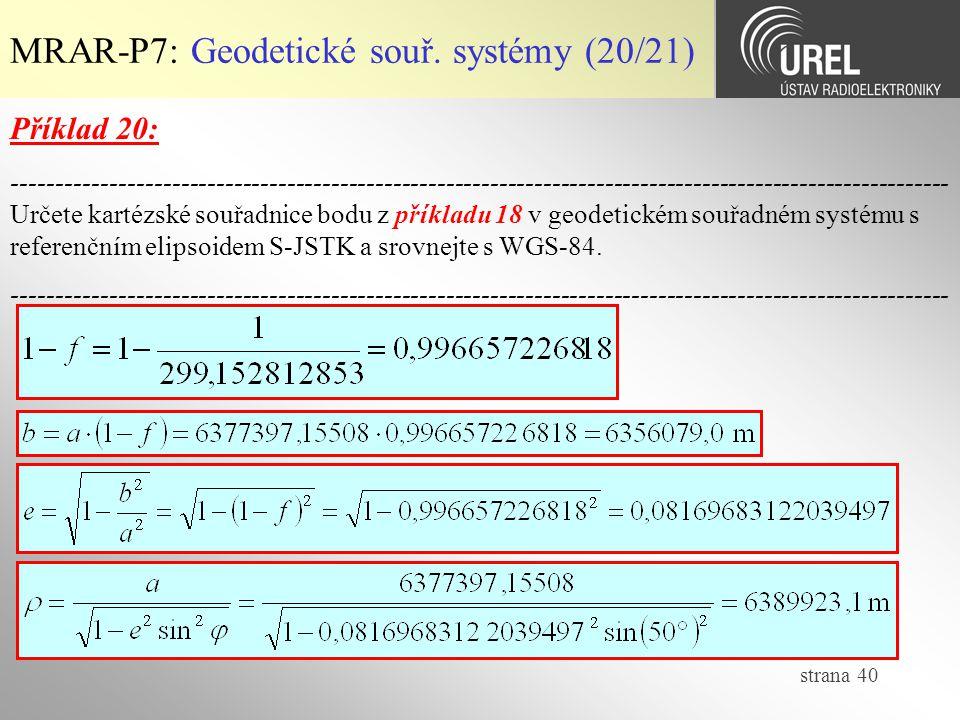 MRAR-P7: Geodetické souř. systémy (20/21)